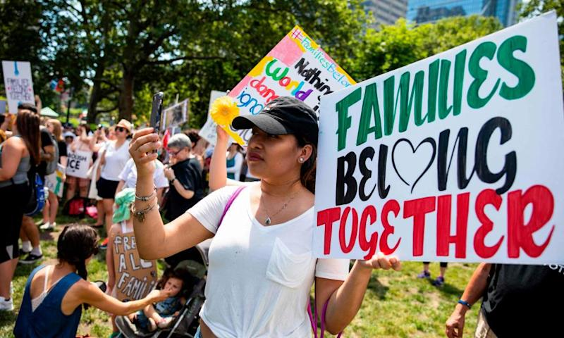 A rally against Donald Trump's immigrant family separation policies in Philadelphia, Pennsylvania, 30 June 2018.