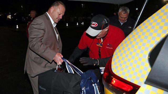 <em>Gerard Gallant, former Florida Panthers head coach, gets into a cab after being relieved of his duties following an NHL hockey game against the Carolina Hurricanes, Sunday, Nov. 27, 2016, in Raleigh, N.C. (AP Photo/Karl B DeBlaker)</em>