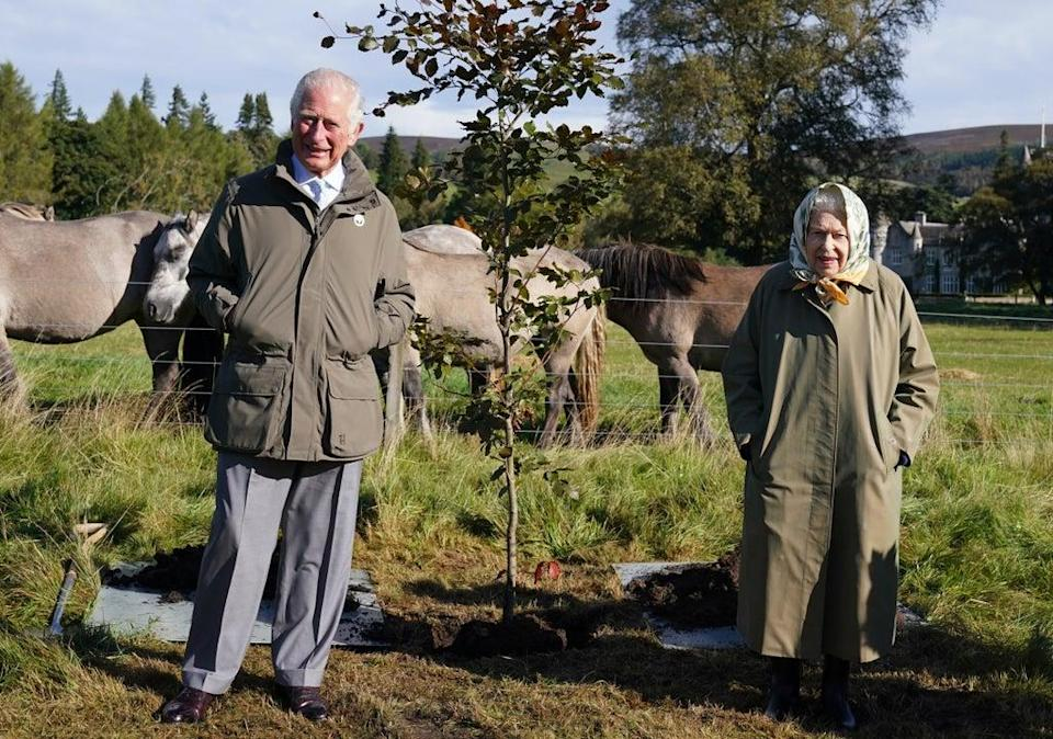 Charles, pictured with the Queen at Balmoral Estate, is a long-time environmental campaigner (Andrew Milligan/PA) (PA Wire)