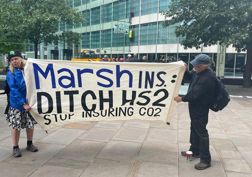 The action was part of the ongoing Impossible Rebellion, a series of protests by Extinction Rebellion and related groups on environmental issues (PA)