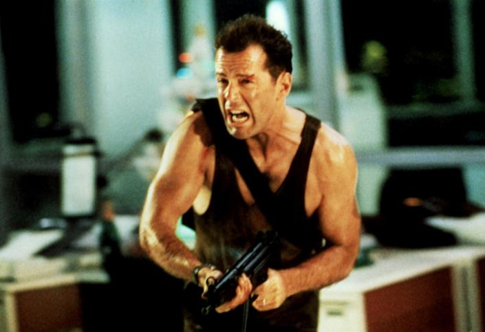 DIE HARD, Bruce Willis, 1988, TM & Copyright (c) 20th Century Fox Film Corp. All rights reserved.