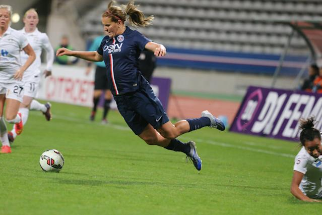 """<a class=""""link rapid-noclick-resp"""" href=""""/olympics/rio-2016/a/1124268/"""" data-ylk=""""slk:Lindsey Horan"""">Lindsey Horan</a>'s time with Paris Saint-Germain was historic, tough, and ultimately invaluable. (Getty)"""