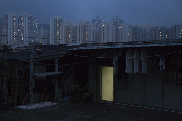 "<p>In this Saturday, May 6, 2017 photo, an illegal rooftop hut is seen in Hong Kong. There's a dark side to the property boom in wealthy Hong Kong, where hundreds of thousands of people priced out of the market must live in partitioned apartments, or ""coffin homes,"" and other types of inadequate housing. (Photo: Kin Cheung/AP) </p>"