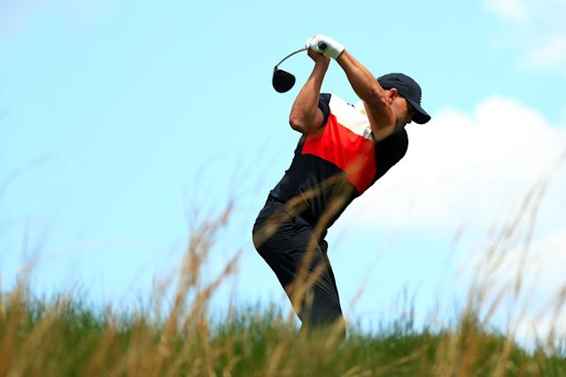 "<div class=""caption""> Brooks Koepka plays his shot from the seventh tee during the first round of the 2019 PGA Championship. </div> <cite class=""credit"">Mike Ehrmann</cite>"