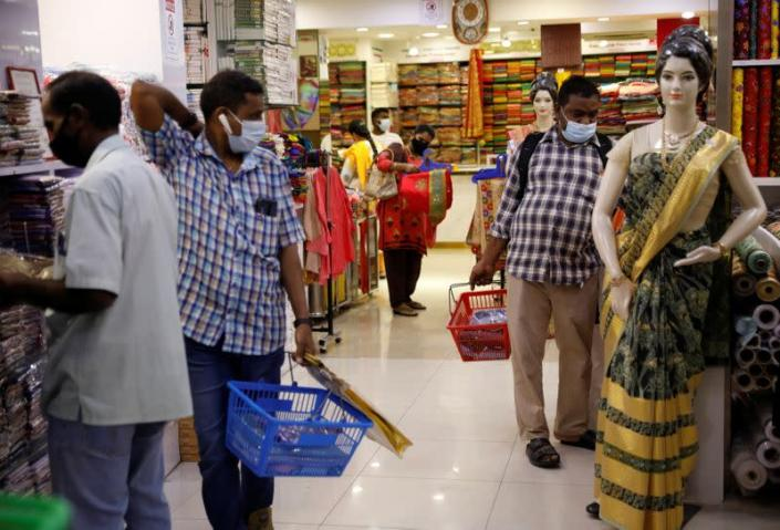 Migrant workers revisit the community after more than a year of movement curbs due to the coronavirus disease (COVID-19) outbreak, in Singapore