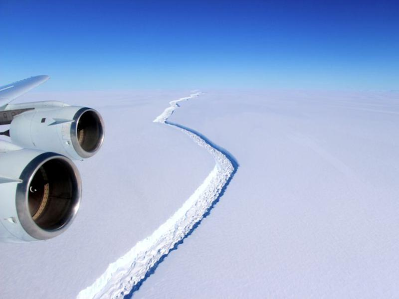 One of Antarctica's largest ice shelves is breaking apart at an alarming, according to researchers: NASA