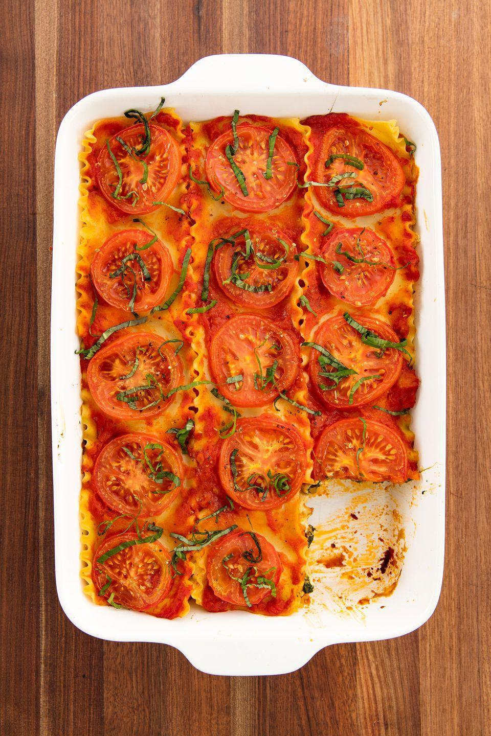 "<p>A classic lasagna made easy.</p><p>Get the recipe from <a href=""https://www.delish.com/cooking/recipe-ideas/recipes/a58469/best-vegan-lasagna-recipe/"" rel=""nofollow noopener"" target=""_blank"" data-ylk=""slk:Delish"" class=""link rapid-noclick-resp"">Delish</a>. </p>"