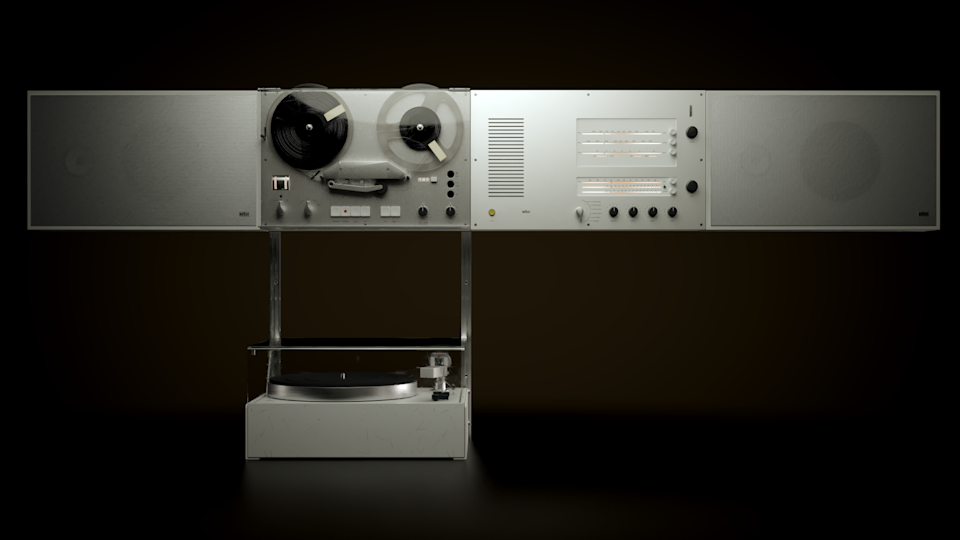 Dieter Rams' original 1965 Wandanlage stereo system.
