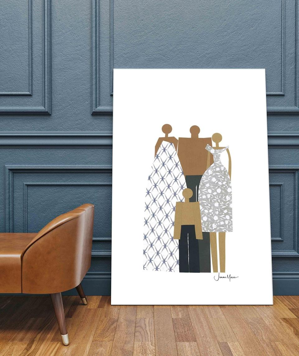 """<p><strong>LouLouArtStudio</strong></p><p>www.etsy.com</p><p><strong>$95.00</strong></p><p><a href=""""https://go.redirectingat.com?id=74968X1596630&url=https%3A%2F%2Fwww.etsy.com%2Flisting%2F921043796%2Fcustom-4-people-1st-payment-custom&sref=https%3A%2F%2Fwww.womansday.com%2Frelationships%2Ffamily-friends%2Fg27467309%2Fpersonalized-gifts-for-dad%2F"""" rel=""""nofollow noopener"""" target=""""_blank"""" data-ylk=""""slk:Shop Now"""" class=""""link rapid-noclick-resp"""">Shop Now</a></p><p>A stunning piece of art that is sure to be past down from generation to generation. The Etsy seller makes both customizable and ready-to-print artwork. """"I gave this gift to my husband for his birthday and he keeps going on and on about it,"""" one reviewer wrote. </p>"""