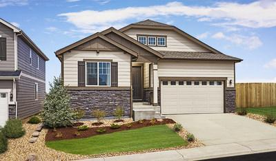 Richmond American's ranch-style Arlington model home at Ralston Ridge in Arvada boasts abundant curb appeal.