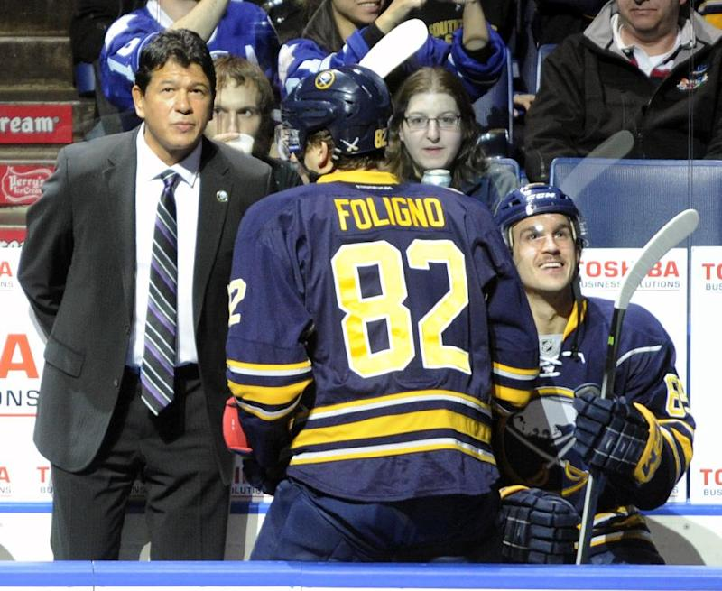 Sabres beat Leafs 3-1 in Nolan's return as coach