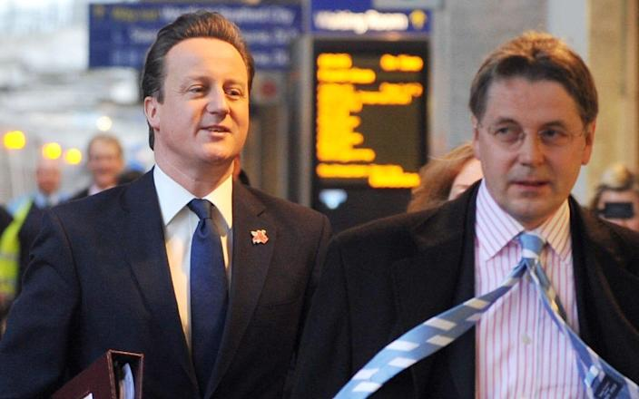 Lord Heywood with David Cameron in 2012. Sir Jeremy has been accused of bringing the Australian financier Lex Greensill into the Government fold - Andrew Parsons/ I-Images