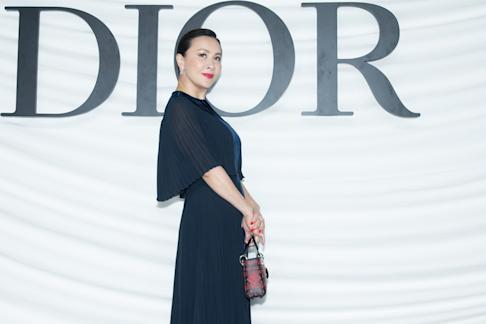 Actress Carina Lau Kar-ling at Christian Dior's Haute-Couture Spring/Summer 2018 show at MinshengArt Wharf on March 29, 2018 in Shanghai. Photo by Visual China Group via Getty Images/Visual China Group via Getty Images