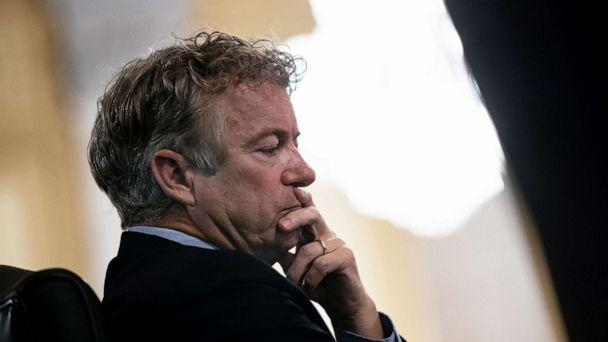 PHOTO: Sen. Rand Paul listens during the confirmation hearing oF Anthony J. Blinken to be Secretary of State before the U.S. Senate Foreign Relations Committee at the Capitol, Jan. 19, 2021. (Alex Edelman/Pool via Reuters)