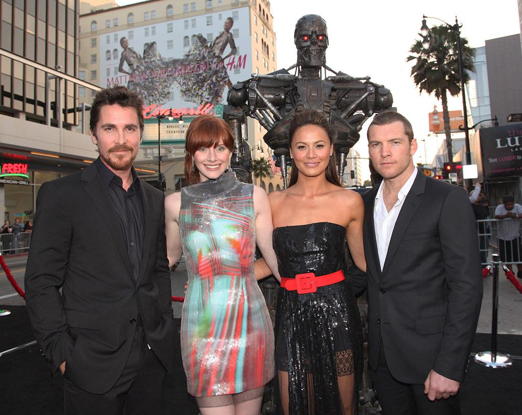 "<a href=""http://movies.yahoo.com/movie/contributor/1800018597"">Christian Bale</a>, <a href=""http://movies.yahoo.com/movie/contributor/1808534469"">Bryce Dallas Howard</a>, <a href=""http://movies.yahoo.com/movie/contributor/1808594162"">Moon Bloodgood</a> and <a href=""http://movies.yahoo.com/movie/contributor/1800424136"">Sam Worthington</a> at the Los Angeles premiere of <a href=""http://movies.yahoo.com/movie/1810025211/info"">Terminator Salvation</a> - 05/14/2009"