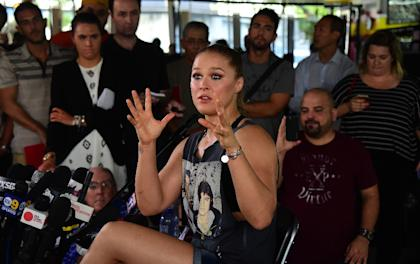 Ronda Rousey has rapidly emerged as one of the biggest names in combat sports. (AFP)