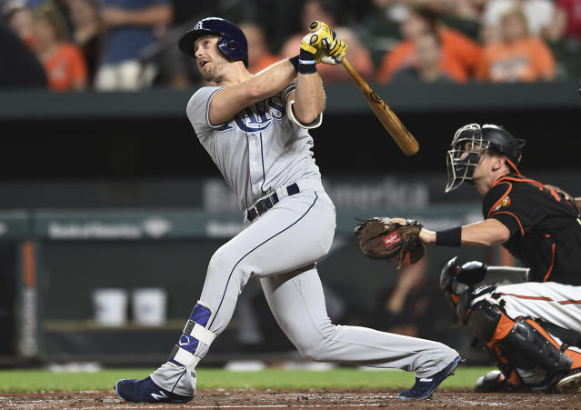 "<a class=""link rapid-noclick-resp"" href=""/mlb/players/7914/"" data-ylk=""slk:Evan Longoria"">Evan Longoria</a> will help the Giants try to turn things around after an awful 2017. (AP Photo/Gail Burton, File)"