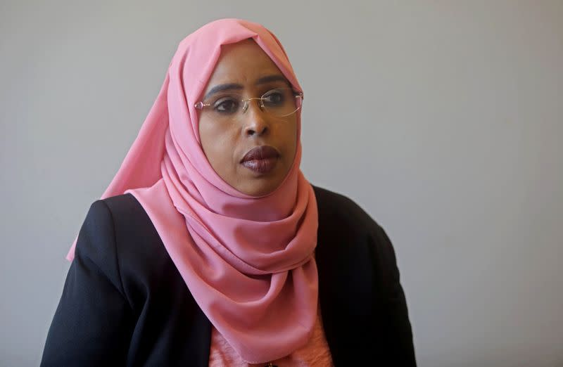 Somali lawmaker Amina Mohamed Abdi attends a Reuters interview in Mogadishu