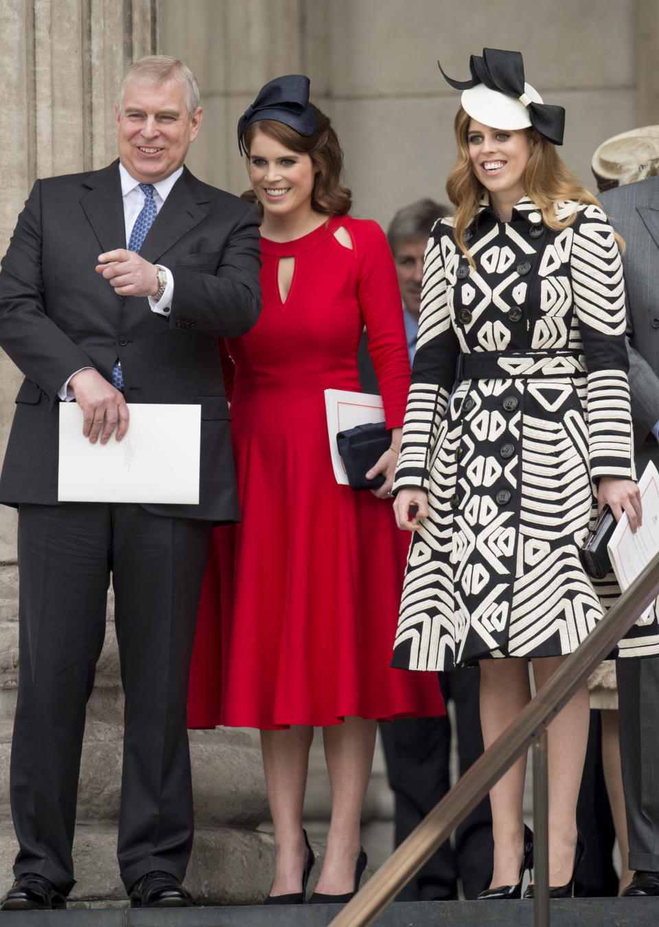 Prince Andrew with Princess Eugenie and Princess Beatrice