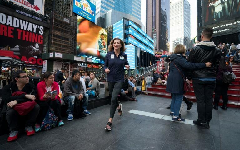 Kathrine Switzer, who was the first woman to run the Boston marathon, was still running marathons in 2017 at the age of 70 (AFP Photo/Don Emmert)