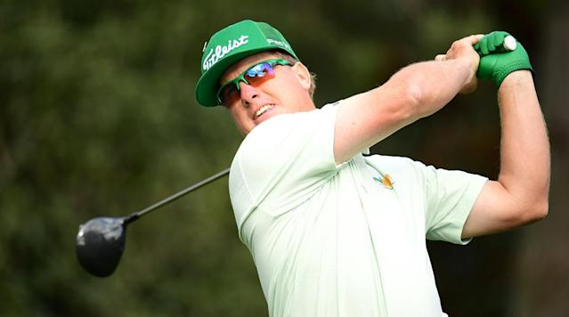 Charley Hoffman made five back-nine birdies to shoot 65 and pull ahead of the field at Augusta National Golf Club Thursday.