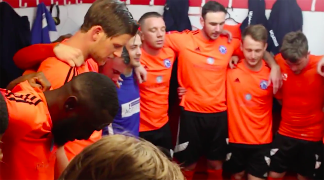 You read the headline: English club Billericay Town prepared for the Isthmian League Cup final by singing R.