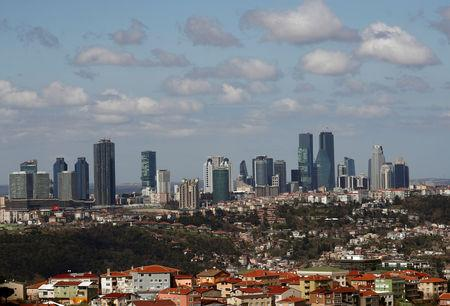 Skyscrapers are seen in the business and financial district of Levent, which comprises of leading banks' and companies' headquarters, in Istanbul, Turkey, March 29, 2019. Picture taken March 29, 2019. REUTERS/Murad Sezer