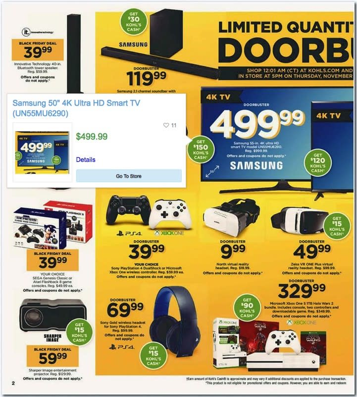 Kohl's Black Friday 2017 ad just leaked: $200 PS4 and Xbox