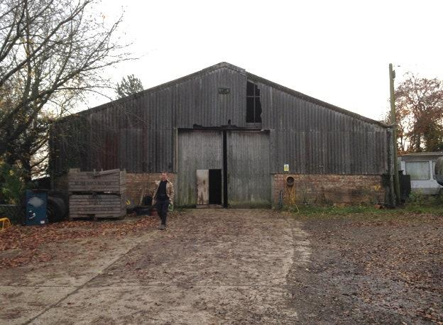 "<div class=""caption""> <strong>BEFORE:</strong> Growing up in a farmhouse, the client has a love of barn-like spaces. So this dilapidated tractor shed in Hertfordshire was a sensible conversion. </div>"