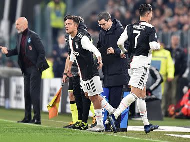 Serie A: Cristiano Ronaldo leaves stadium after being substituted in Juventus match against AC Milan