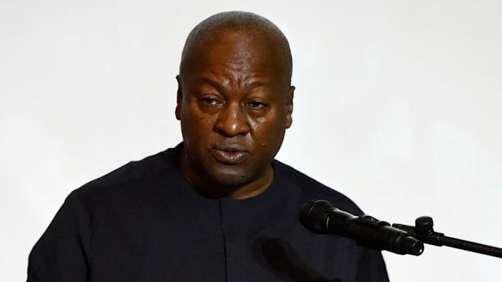 Former Ghanian President and candidate of the opposition National Democratic Congress (NDC) John Dramani Mahama