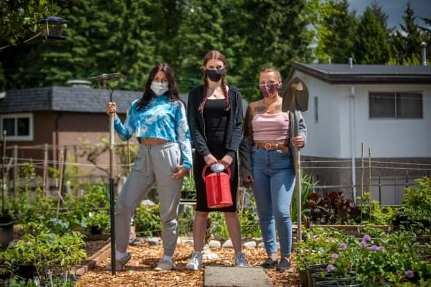 Residents at Charlford House in Burnaby, B.C., now have access to their own community garden with the help of donations from local gardeners. (Ben Nelms/CBC - image credit)