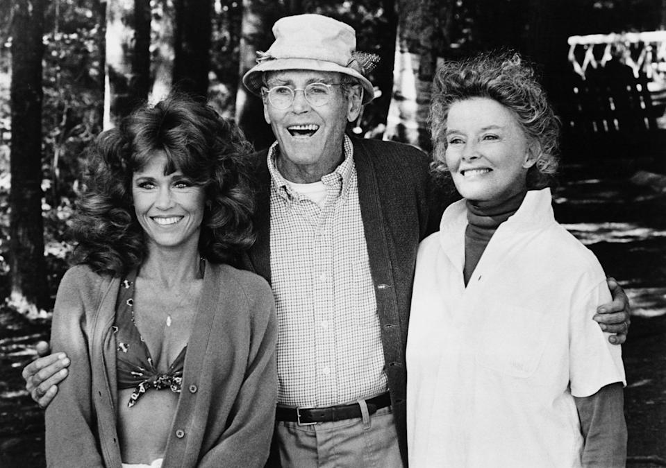 """<p>In 1981, Fonda starred in <em>On Golden Pond</em> alongside her father, Henry, and actress Katharine Hepburn. The actress opened up to <a href=""""https://www.hollywoodreporter.com/news/jane-fonda-warren-beatty-women-entertainment-268529"""" rel=""""nofollow noopener"""" target=""""_blank"""" data-ylk=""""slk:The Hollywood Reporter"""" class=""""link rapid-noclick-resp""""><em>The Hollywood Reporter</em></a> in 2011 about the memorable experience.</p> <p>""""Producing <em>On Golden Pond</em> and giving the Oscar to my father five months before he died was very special,"""" she said.</p>"""
