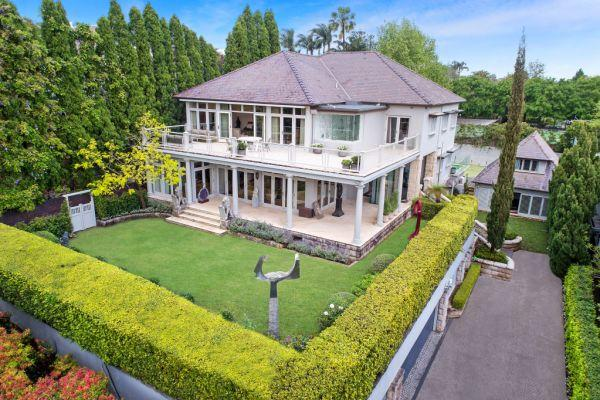Exterior of the home in Bellevue Hill that was purchased for $30 million.