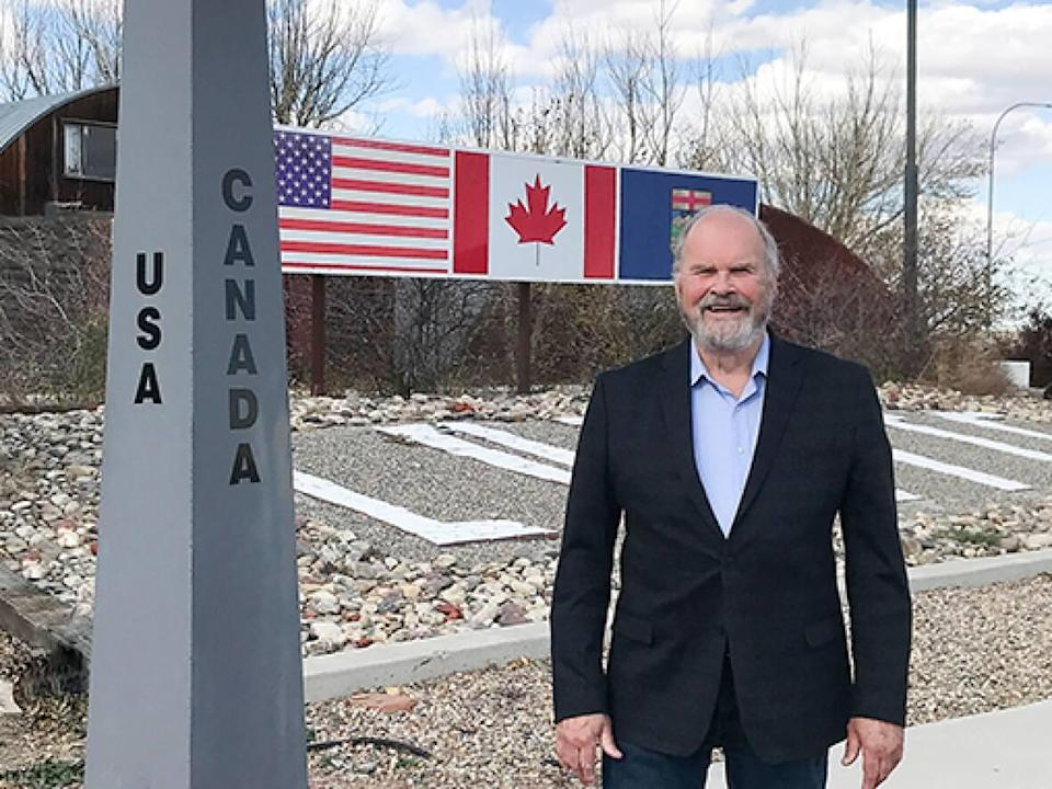 Jim Willett, mayor of Coutts, Alta., says there are many friendships and family ties across the U.S.-Canada border.  (Submitted by Jim Willett - image credit)
