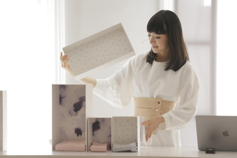 """Marie Kondo said the ancient Japanese philosophy of wabi-sabi, which she described as """"experiencing beauty in simplicity and calmness,"""" was one inspiration for her methods. (ASSOCIATED PRESS)"""