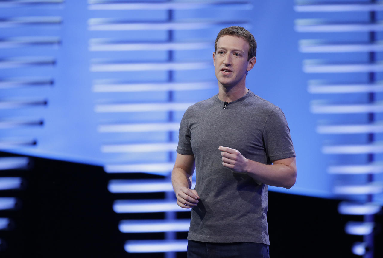 <p> FILE- In this April 12, 2016, file photo, Facebook CEO Mark Zuckerberg speaks during the keynote address at the F8 Facebook Developer Conference in San Francisco. Facebook says, Wednesday, Nov. 16, it will work with independent companies like Nielsen and comScore to review its metrics after it uncovered new problems with the data it provides to advertisers and publishers that use its network. (AP Photo/Eric Risberg, File) </p>