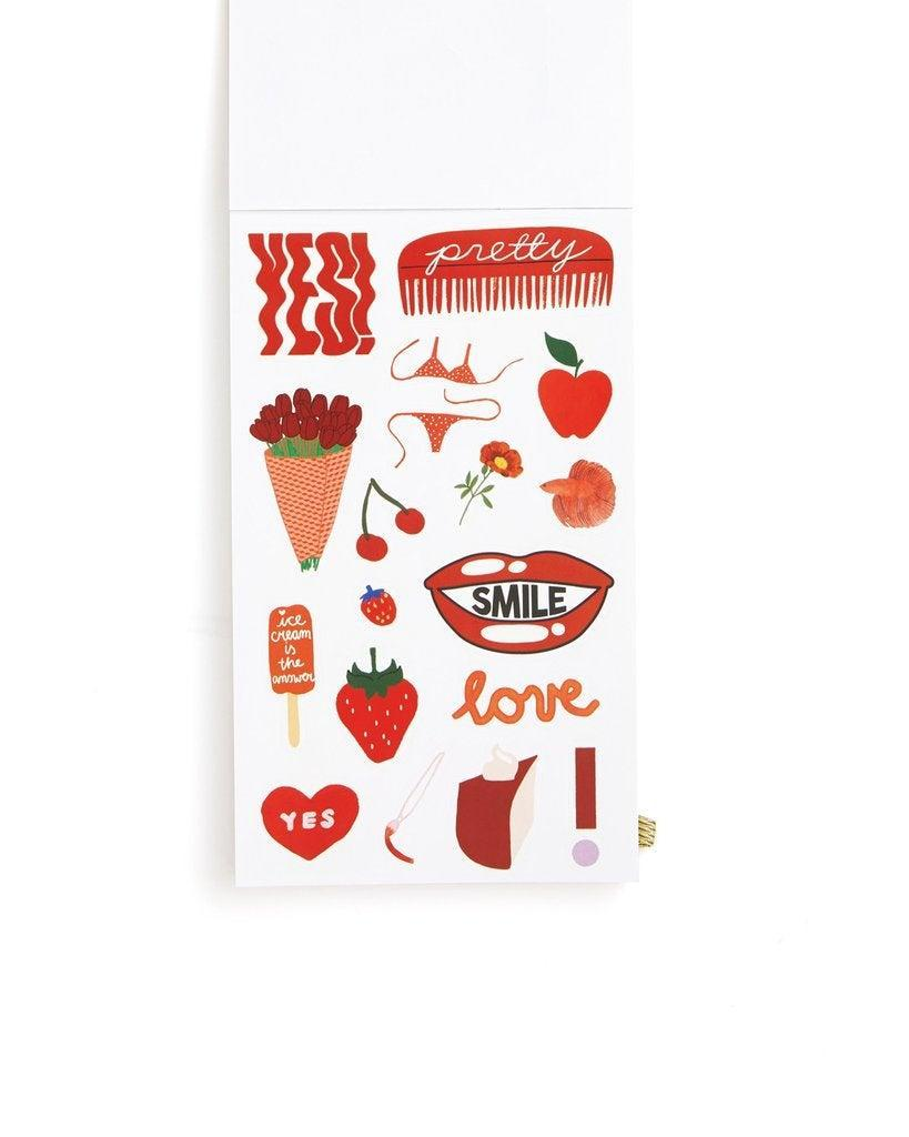 """<h2>ban.do Sticker Book </h2><br>We loved stickers then and we love stickers now, especially when they're adorning our laptops and phone cases. <br><br><strong>ban.do</strong> Sticker Book - Issue Five, $, available at <a href=""""https://go.skimresources.com/?id=30283X879131&url=https%3A%2F%2Fwww.bando.com%2Fcollections%2Fdesk%2Fproducts%2Fsticker-book-issue-five"""" rel=""""nofollow noopener"""" target=""""_blank"""" data-ylk=""""slk:ban.do"""" class=""""link rapid-noclick-resp"""">ban.do</a>"""