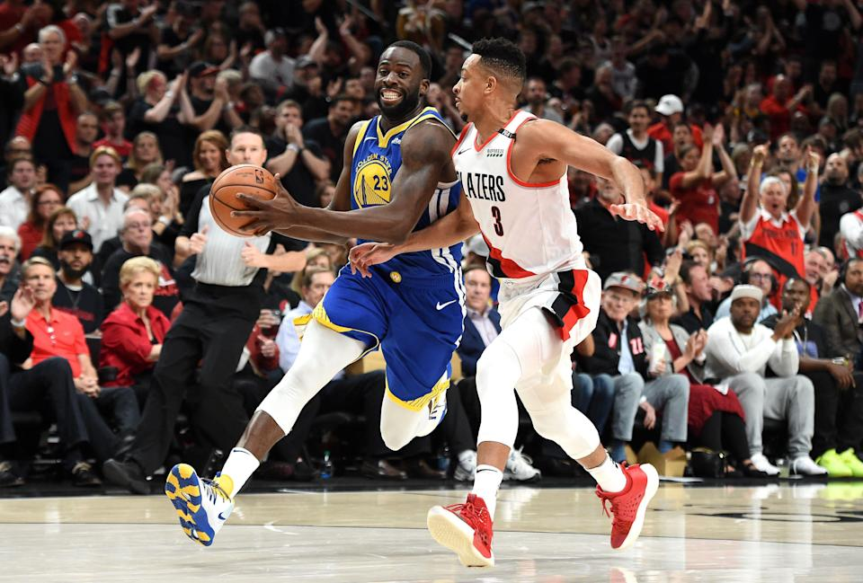 Golden State Warriors star Draymond Green caught his son flopping while playing basketball at home. So he told him to quit watching the NBA.