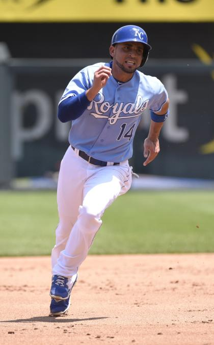 Royals second baseman Omar Infante is hitting .227 and could start the All-Star Game. (Getty Images)