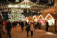 """<p>Toronto's pedestrianised Distillery Historic District, a collection of Victorian brick buildings and cobbled streets, is a charming spot for the city's Christmas market to take place. Lit-up stalls sell food and crafts, while carol singing and sampling spiced biscuits and hot wine will keep things warm and merry. See <u><a rel=""""nofollow noopener"""" href=""""http://www.torontochristmasmarket.com/"""" target=""""_blank"""" data-ylk=""""slk:torontochristmasmarket.com"""" class=""""link rapid-noclick-resp"""">torontochristmasmarket.com</a></u>. [Photo: Flickr/<u><a rel=""""nofollow noopener"""" href=""""https://www.flickr.com/photos/dgaken/"""" target=""""_blank"""" data-ylk=""""slk:Dan Gaken"""" class=""""link rapid-noclick-resp"""">Dan Gaken</a></u>] </p>"""