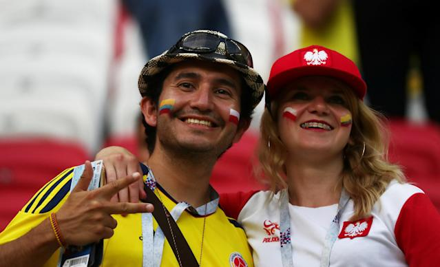 Soccer Football - World Cup - Group H - Poland vs Colombia - Kazan Arena, Kazan, Russia - June 24, 2018 Fans inside the stadium before the match REUTERS/Sergio Perez
