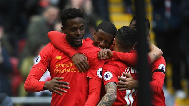 Divock Origi sealed a 3-1 derby win for Liverpool over Everton at Anfield that he hopes can inspire a run to Champions League qualification.