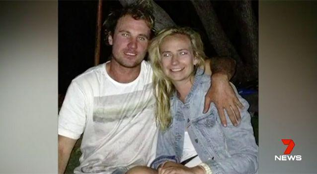 Mr Pollard was teaching his girlfriend how to surf at the time of the attack. Source: 7 News