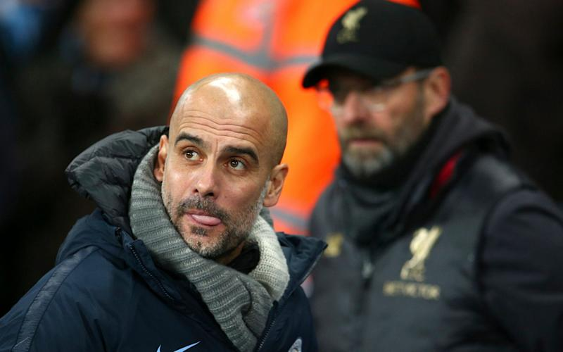 Pep Guardiola says Manchester City's successes have spurred Liverpool on to become better - AP