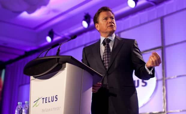 Telus CEO Darren Entwistle, seen here at an event in 2014, said last year if the CRTC imposed mobile virtual network operators on Telus, the company would cut thousands of jobs and $1 billion in investment.