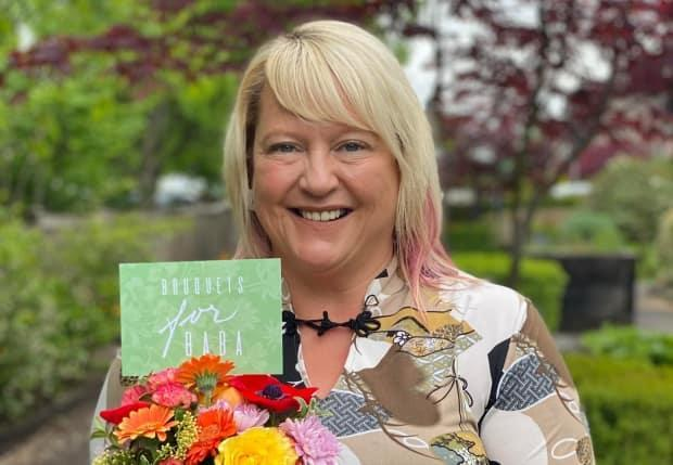 Treena Innes started Bouquets for Baba. 'What we've  learned during COVID is that we all need to be kind, and we need to show people that we care,' she said.