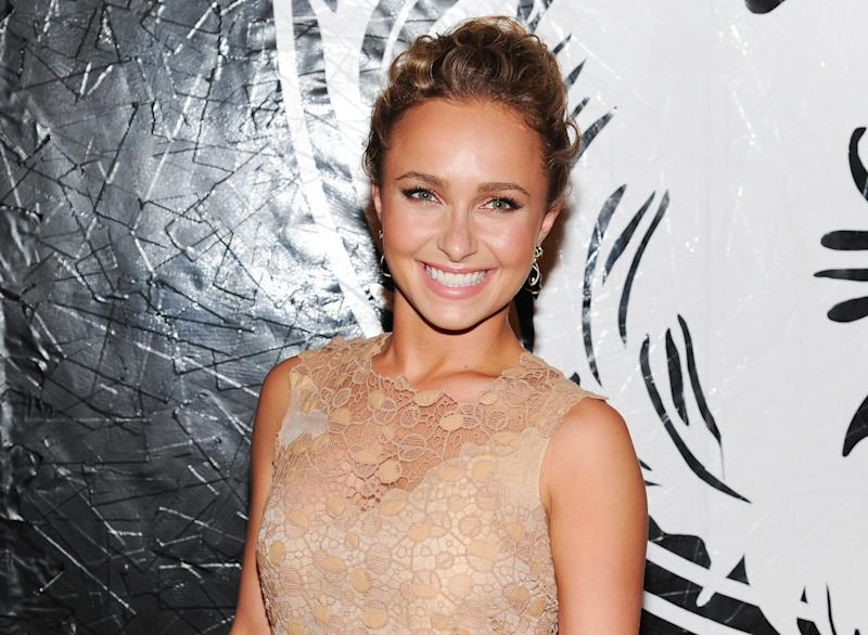 "FILE - In this May 15, 2013 file photo, actress Hayden Panettiere attends the Versus Versace and Capsule Collection fashion show at the 69th Regiment Armory, in New York. Panettiere is confirming her engagement to Olympic boxer Wladimir Klitschko. Appearing on ""Live with Kelly and Michael,"" Wednesday, Oct. 9, 2013, the 24-year-old actress was flashing a large diamond ring that prompted host Kelly Ripa to inquire what it might signify. (Photo by Evan Agostini/Invision/AP, File)"