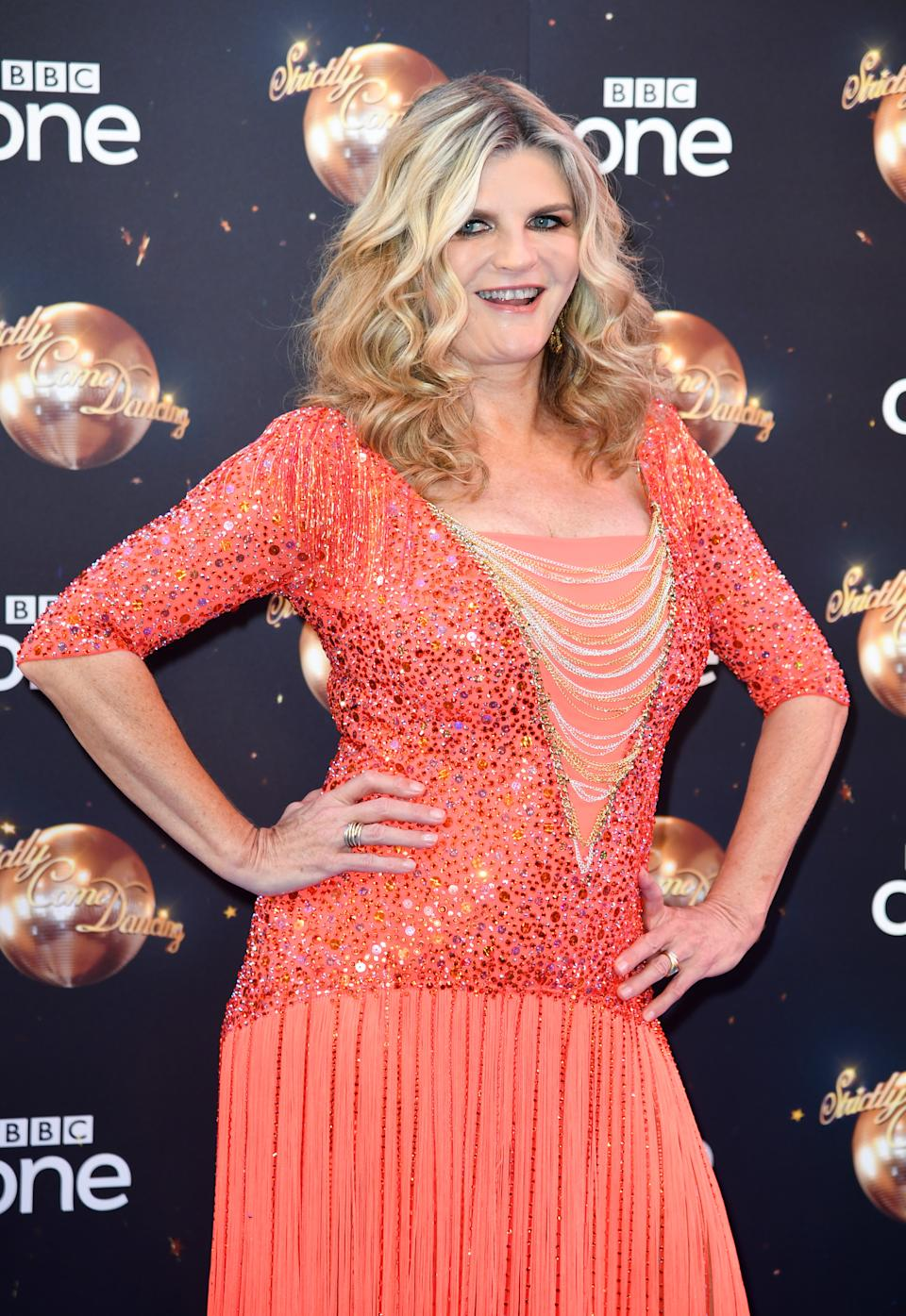 Susannah Constantine arriving at the red carpet launch of Strictly Come Dancing 2018, BBC Broadcasting House, London. Photo credit should read: Doug Peters/EMPICS