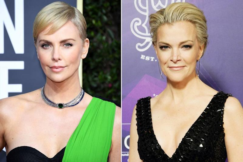 Charlize Theron; Megyn Kelly | Daniele Venturelli/WireImage; John Medina/Getty